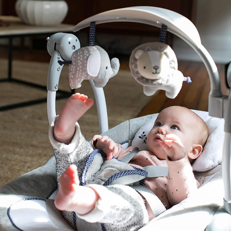 Babywippe BABY RELAX Braun Beige Inklusive abnehmbarem Spielbogen